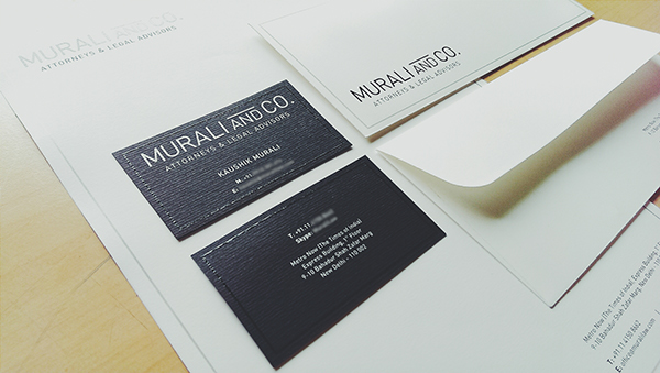 Murali and Co.letterhead & envelope