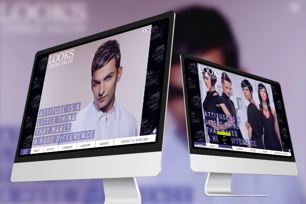 Website Design - Looks Unisex Salon-1