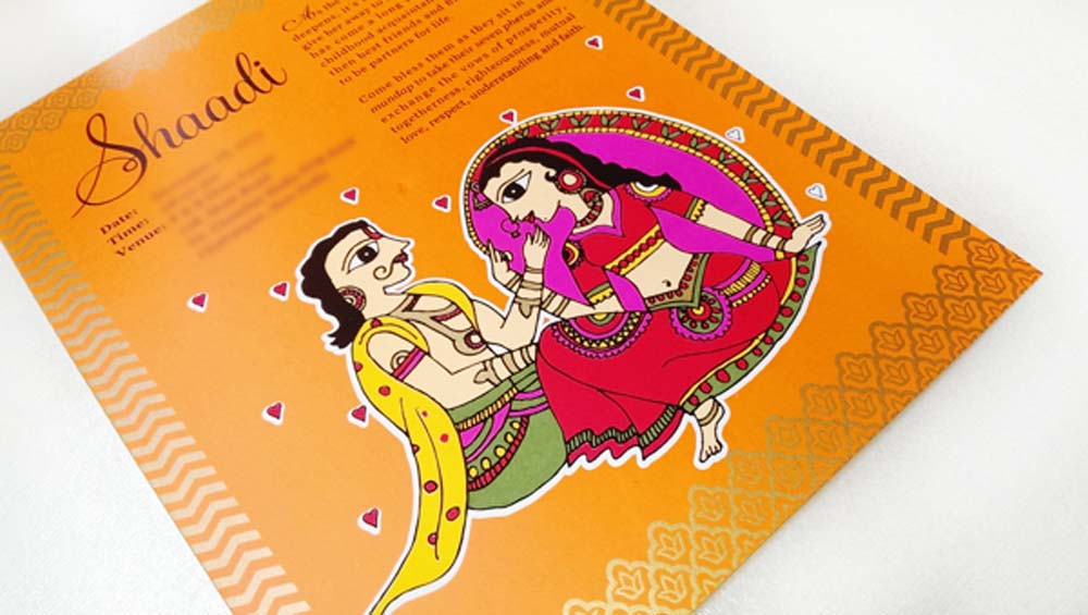 Madhubani Art Inspired Wedding Invite-9