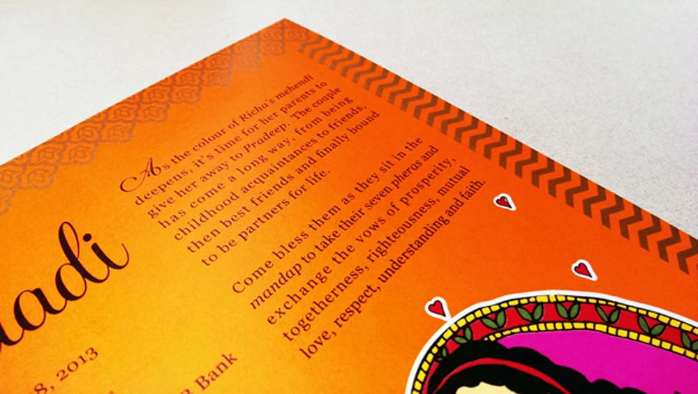 Madhubani Art Inspired Wedding Invite-10