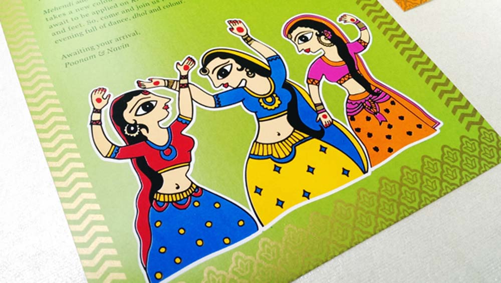 Madhubani Art Inspired Wedding Invite-11