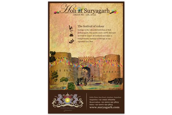 Suryagarh, Jaisalmer – Holi Emailers