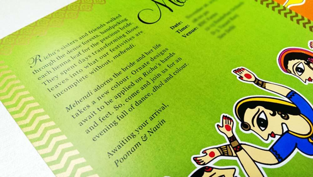 Madhubani Art Inspired Wedding Invite-12