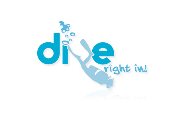 Dive Right In! logo