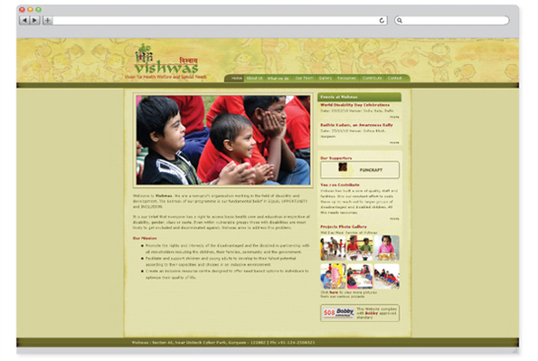 Vishwas NGO – website design-1