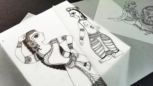 Madhubani Art Inspired Wedding Invite-14