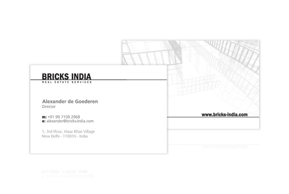 Bricks India - business card