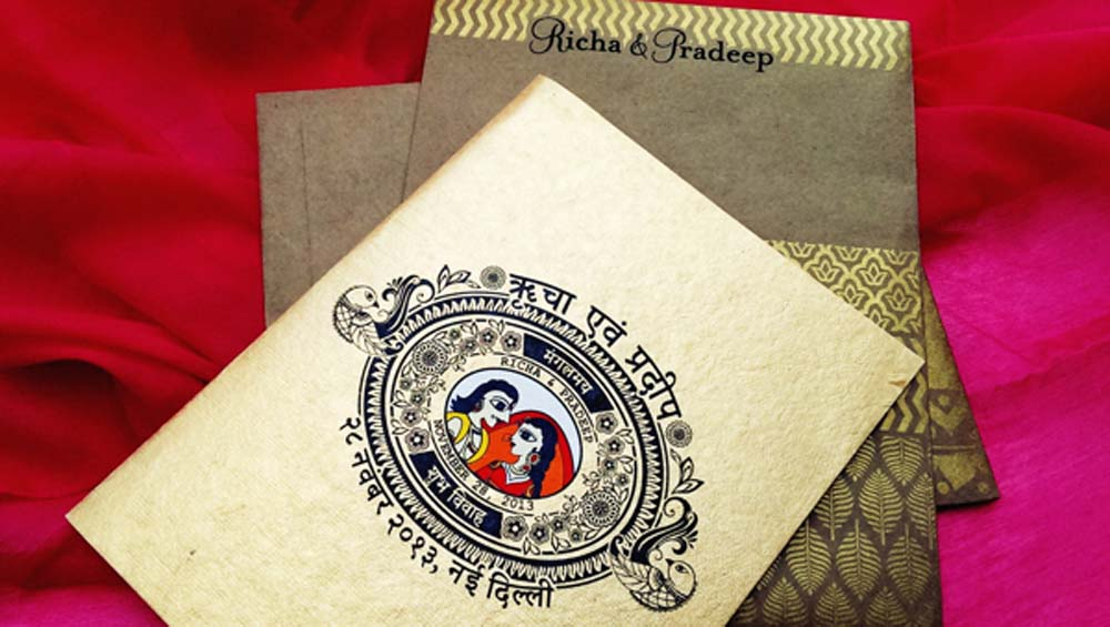 Madhubani Art Inspired Wedding Invite-19