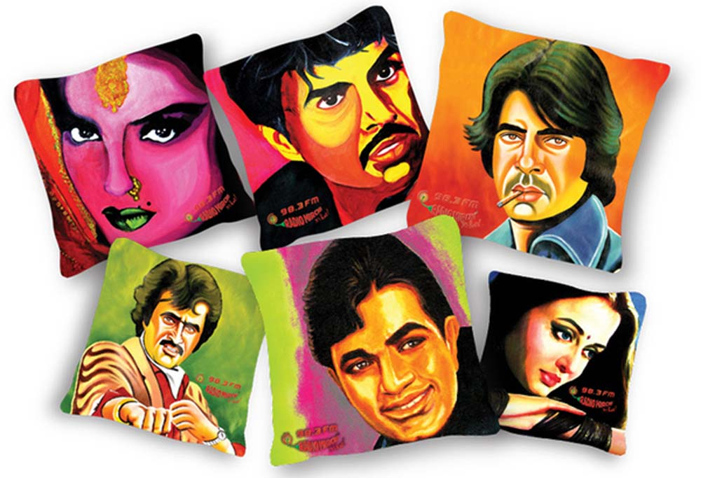 Radio Mirchi bollywood pop art cushions-1