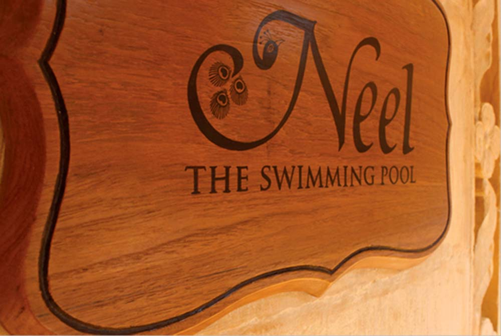 Wooden Sign Boards (swimming pool)