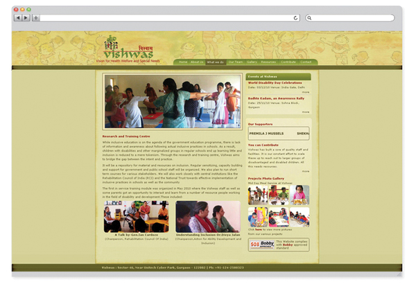 Vishwas NGO – website design-2