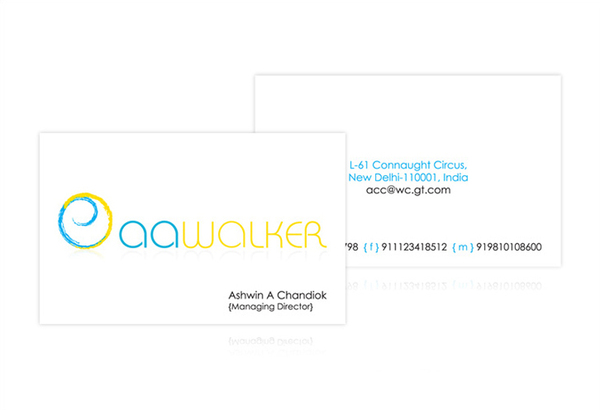 AA Walker - business card
