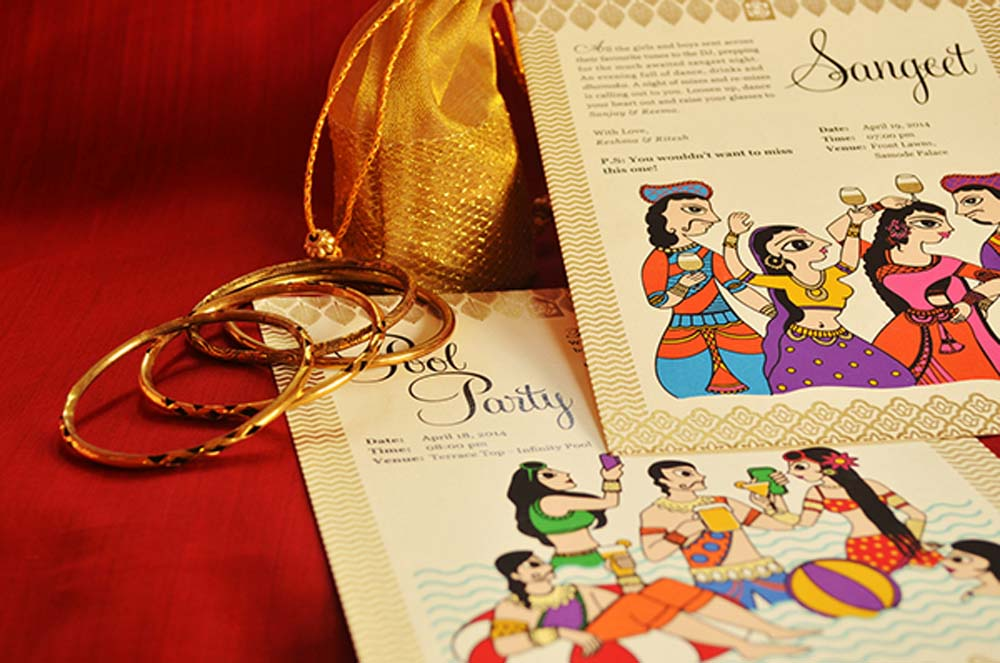 Madhubani Art Inspired Wedding Invite-4