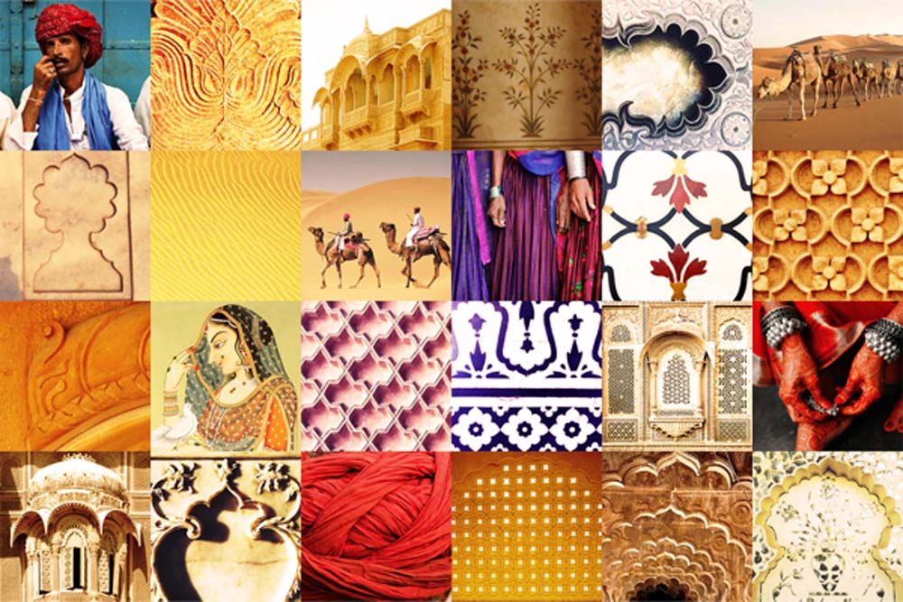Inspiration - Rajasthani arches, Floral motifs, the desert, camels