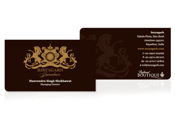 Suryagarh business cards