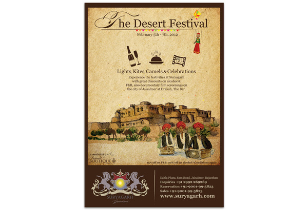 Suryagarh, Jaisalmer – The Desert Festival Emailer