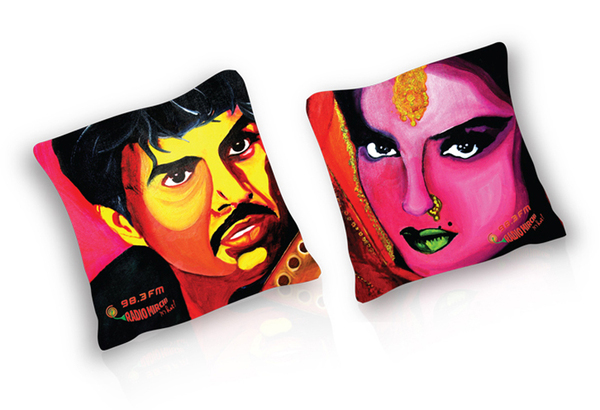 Radio Mirchi bollywood pop art cushions-2