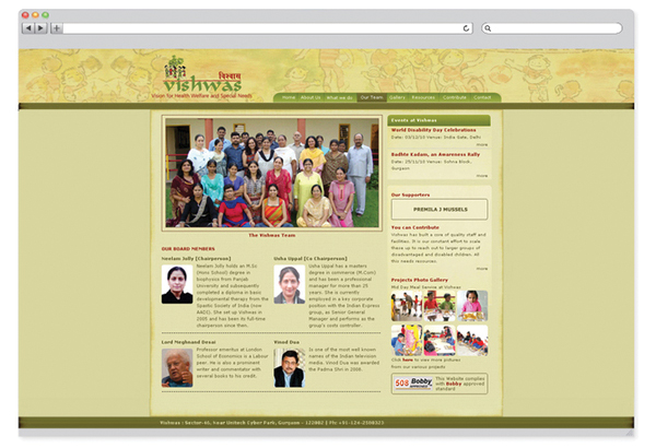 Vishwas NGO – website design-3