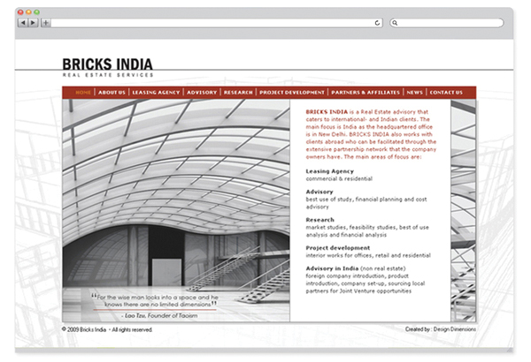 Bricks India - website design-1