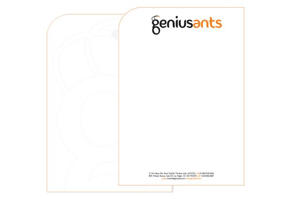 Genius Ants - letterhead