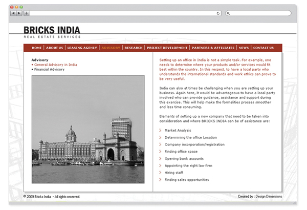 Bricks India - website design-2