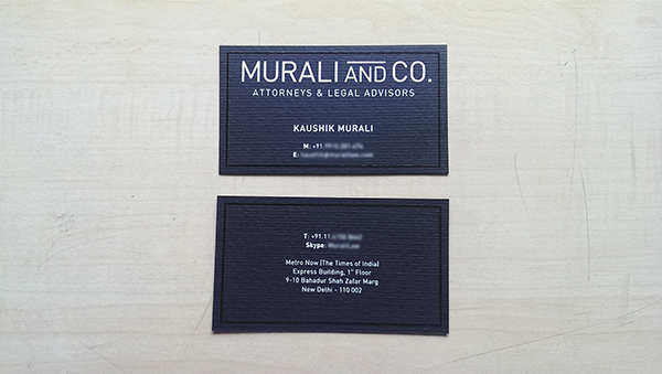 Murali and Co.visiting card