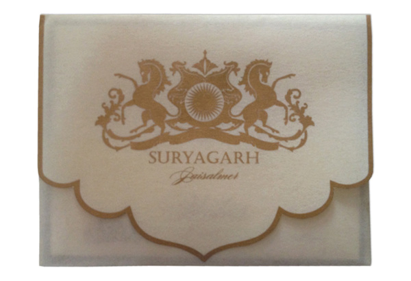 Suryagarh In-room notepads