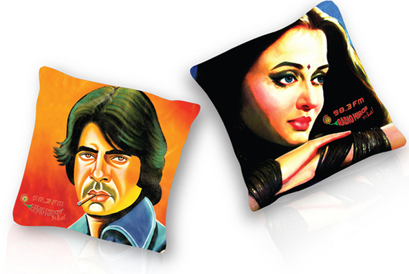 Radio Mirchi bollywood pop art cushions-4