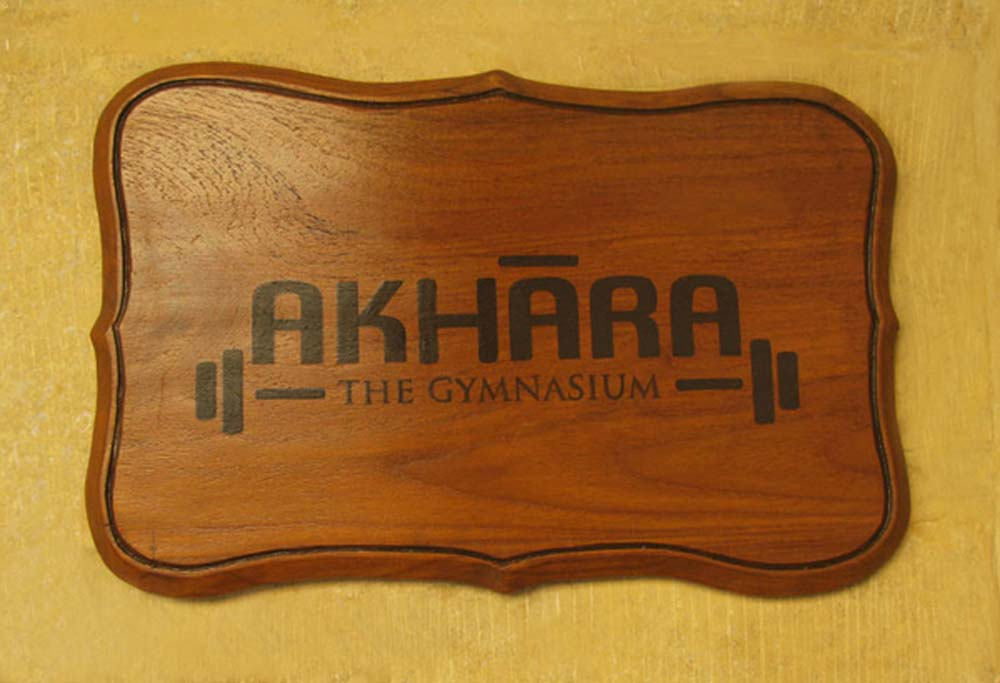 Wooden Sign Boards (the gymnasium)