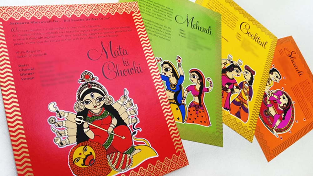Madhubani Art Inspired Wedding Invite-5