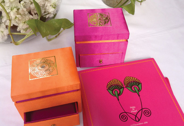 Mehendi inspired wedding invite gift boxes-1
