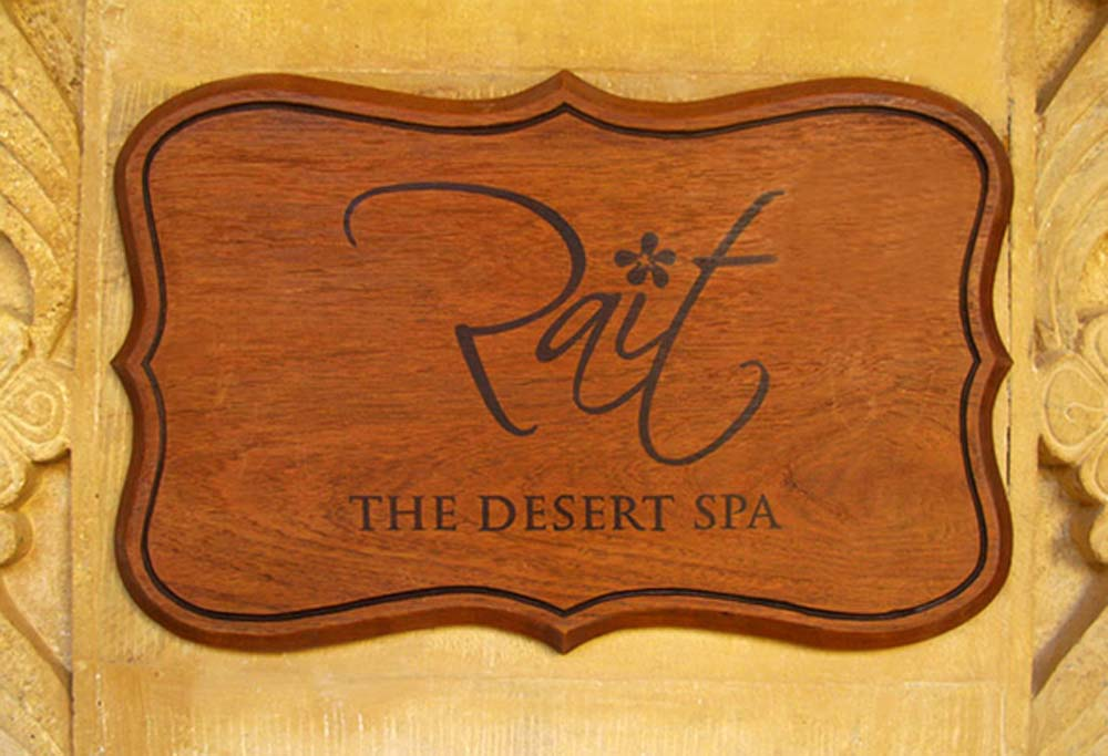 Wooden Sign Boards (the desert spa)