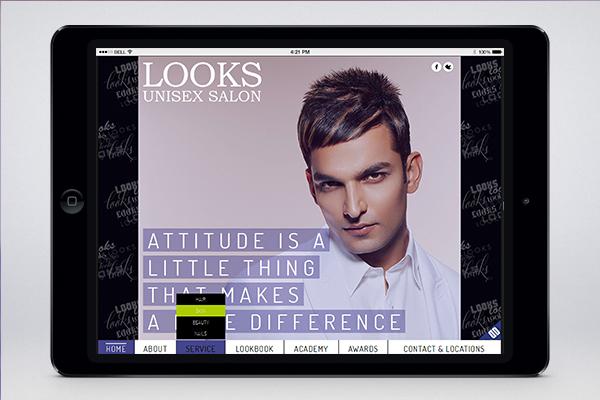 Website Design - Looks Unisex Salon-8