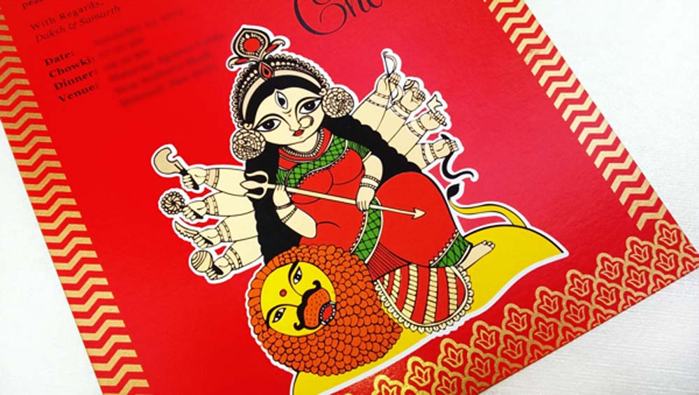Madhubani Art Inspired Wedding Invite-7
