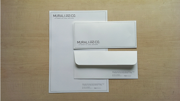 Murali and Co.letterhead