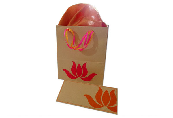 Lotus Wedding Invite bag