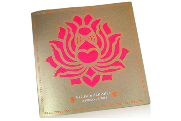 Lotus Wedding Invite card-2