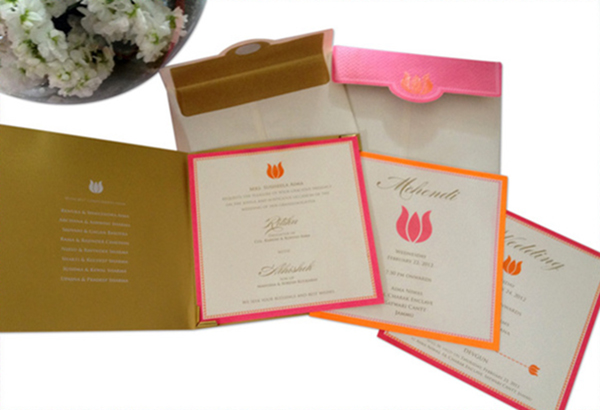 Lotus Wedding Invite card-3