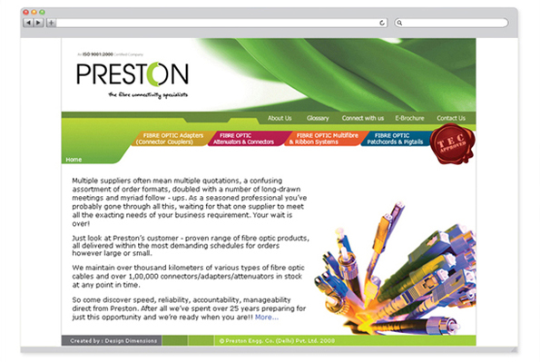 Preston Cables website design-2