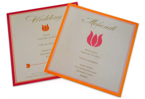 Lotus Wedding Invite card-5